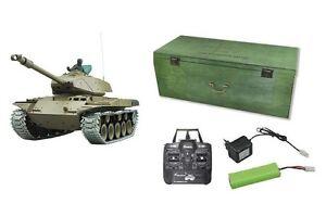 RC Panzer Walker Bulldog Metallgetriebe + Ketten Schuss, Rauch + Sound 23045