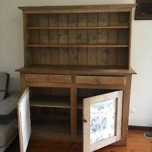 Antique baltic pine kitchen dresser