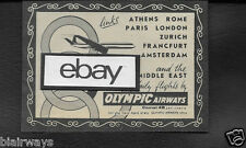 OLYMPIC AIRWAYS 1962 COMET 4B JETS ATHENS TO PARIS-LONDON-ROME & MIDDLE EAST AD