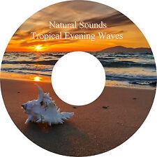 """Natürliche Sounds Tropisch Evening CD """"Wellenlinien"""" Entspannung Help Schlaf"""