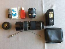 Old School Camera Parts Zoom Lens Multiplier Flash Plus Extras