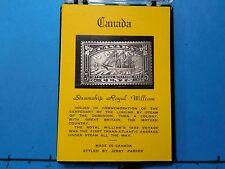 CANADA STEAMSHIP ROYAL WILLIAM 1833 VOYAGE 1/4 OZ ANTIQUE 999 SILVER BAR COACASE