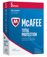 McAfee Total Protection 2018 5 Devices  1-Year - New Retail Download