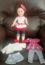 "Madame Alexander 18"" Girl Doll Extra Clothes Short Dark Red Hair Brown Eyes 2009"