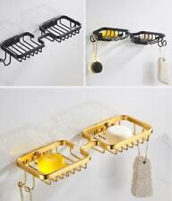 Black Matt Gold Soap Dish Space Aluminum Soap Holder For Bathroom, Wall Mounted