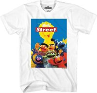 Sesame Street Group Adult Tee Graphic T-Shirt for Men Tshirt