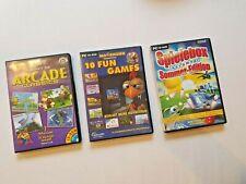 3 Stück PC CD-ROM Spiele Spiel - Arcade / Moorhuhn Fun Games/ Sommer Spielebox