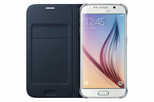 SAMSUNG Galaxy s6 Custodia Flip Wallet BLU NAVY EF-WG 920 pbeg CARD TASCA 24hr POST
