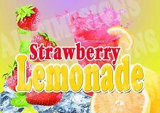Strawberry Lemonade Sign Concession Trailer Stand Restaurant 12 X 17 Pvc
