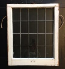 ba5016b96856 Antique Leaded Glass Wood Framed Window Sash (Lower) Church Salvage Vintage