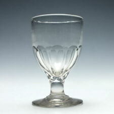 Clear Victorian Date-Lined Glass Hand Blown