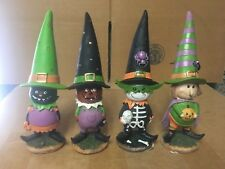 """(4) Halloween 8"""" Resin Figures in Costumes L@@K!!!"""