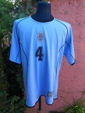 Uruguay Natl Team PAOLO MONTERO 2001 match worn shirt JUVENTUS CAPTAIN & HERO