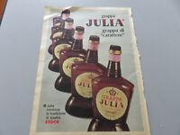 Publicité Sur Pag. D'Origine Années 50/60/70 Advertising Vintage Grappa Julia