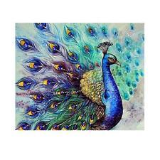 Peacock DIY 5D Diamond Embroidery Painting Cross Stitch Craft Home Room Decor