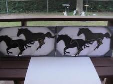 "Metal Wall Art Sculpture 2 Sets New in Box 27"" long Running Horses VGC"