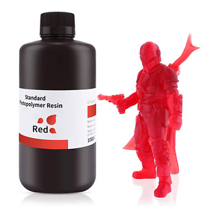 3D Printer Rapid Photopolymer Resin LCD UV-Curing Resin Clear Red 500G 405nm