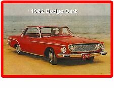 1962 Dodge Dart Red  Auto Refrigerator / Tool Box Magnet