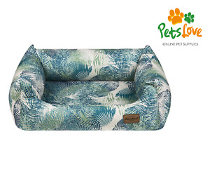 Recobed CORAL Bolster Comfy Cushion Washable Luxury Medium-Large Dog Sofa Bed