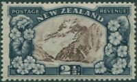 New Zealand 1935 SG560 2½d chocolate and slate Mt Cook MLH