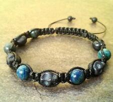 Men's SKULL STONE beaded bracelet shamballa jewelry wristband cuff fashion men