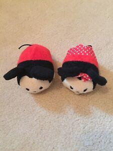Set Of 2 Disney Tsum Tsum Mickey & Minnie Mouse Plush Soft Toys