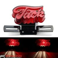 Motorcycle Integrated Tail Brake Light License Plate Braket For Bobber Choppers