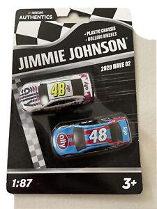 JIMMIE JOHNSON #48 NASCAR Authentics 2020 Wave 2 1/87 Die-Cast 2 Pack