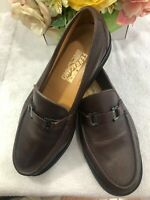 mens Salvatore Ferragamo soft leather gacini buckle loafer size 10.5 EE (mens800
