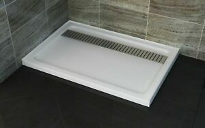 RECTANGULAR SHOWER BASES WITH SS GRATE  900 x 1200 to 2000mm *Free Delivery*