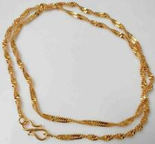 New 22 inch 2mm 22K 24K Thai Baht Yellow Indian Gold Plated Disco Chain Necklace