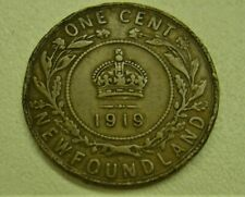1919 Canada Newfoundland One 1 Cent Large Penny Coin