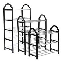3/4 Tier Shoe Tower Rack Stand Space Saving Organiser Storage Shelves Shelf !