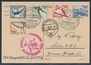 Zeppelin Olympiafahrt 1936 Postkarte Satz Winterspiele nach Berlin (4452)