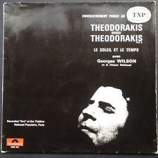 THEODORAKIS DIRIGE THEODORAKIS [Volume 3] LP 1971 Import TNP Paris Soleil Temps