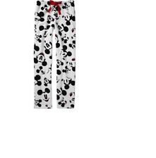 MICKEY MOUSE New Pajama Lounge Pants Soft Fleece LARGE 12-14 New PJ
