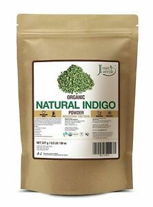 Just Jaivik 100% Natural Indigo Powder for Hair 227 gm Free Shipment