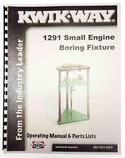 Instructions & Parts Kwik Way 1291 Small Engine Cylinder Boring Bar Fixture
