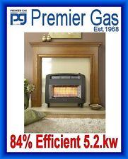 Flavel Strata Outset Gas Fire Convector 5.2kw 84% Efficient (4 Colours)