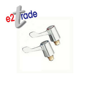 """Tap Lever Heads Conversion Kit ¼"""" Turn Tap For Sink&Basin Chrome Plated 690460"""