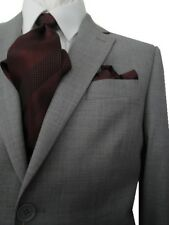 MANTONI 2B MEN'S 100% WOOL SUIT SOLID LIGHT GRAY 46R 46 R FREE SHIP & TIE SET