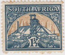 (RSA185)1941SouthAfrica1½d green& buff gold mineSouth)D