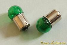 Bombilla 1x 12v/10w-ba15s-verde-bombilla bombilla eléctrica 12 voltios 10 vatios XL PK