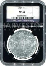Morgan Silver Dollar Ms62 – Ngc Black Core Retro Holder – 25Th Anniversary