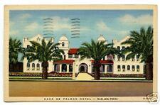 Casa de Palmas Hotel McAllen Texas 1946 postcard