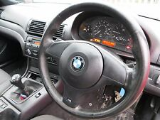 BMW E46 M SPORT LEATHER STEERING WHEEL WITH AIRBAG