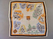 98346, Erinnerungstuch, Finnland 1939-40-41, Ski-Jäger, Soldaten, Pak, Suomi