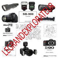 Ultimate Nikon Nikonos Coolpix Camera  Repair & Service manual    815 PDF on DVD