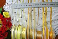 Satin & Metallic LEMON & GOLD Ribbons 3,6,7&10mm Wide 2,3,4,5&10 Metre Choice BW