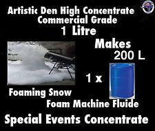 SNOW MACHINE FLUID 1L Pure Concentrate Makes 200 Litres Foam Machine Fluid